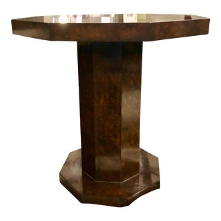 Traditional Century Furniture Octagonal Side Table For Sale