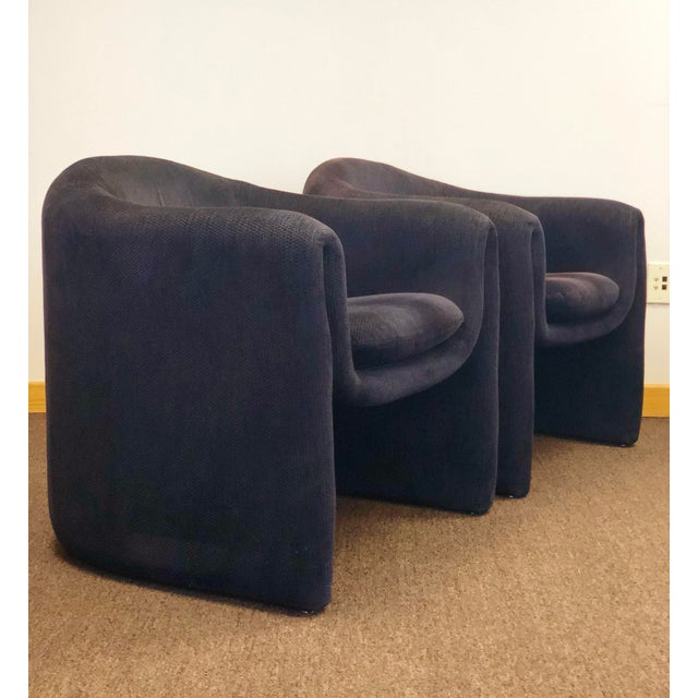 Black 1990s Vladimir Kagan for Preview Biomorphic Freeform Armchairs - a Pair For Sale - Image 8 of 8