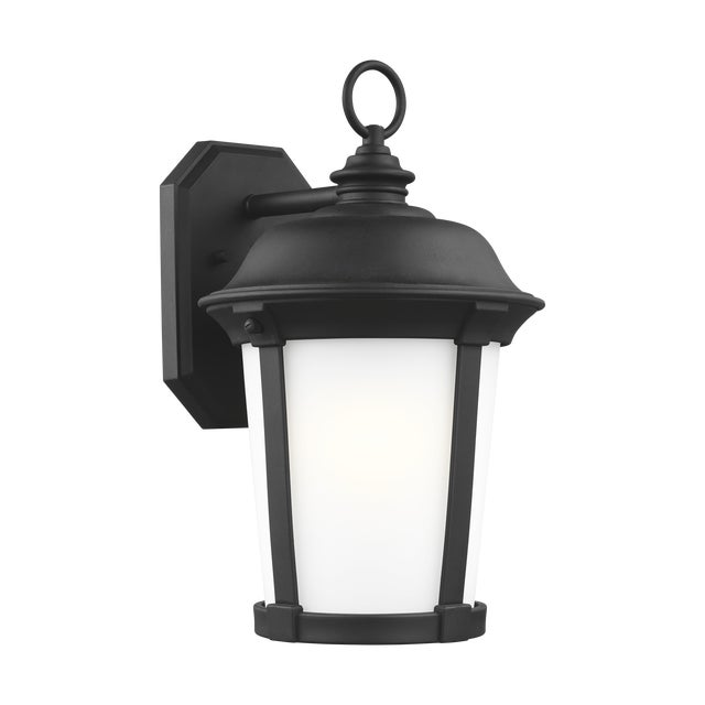 Traditional Traditional Black Large One Light Outdoor Wall Lantern Stone For Sale - Image 3 of 3