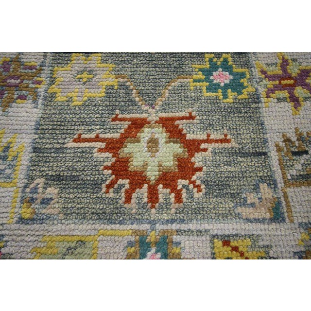 Early 21st Century Contemporary Modern Colors Oushak Scatter Rug - 2′1″ × 3′11″ For Sale - Image 5 of 6