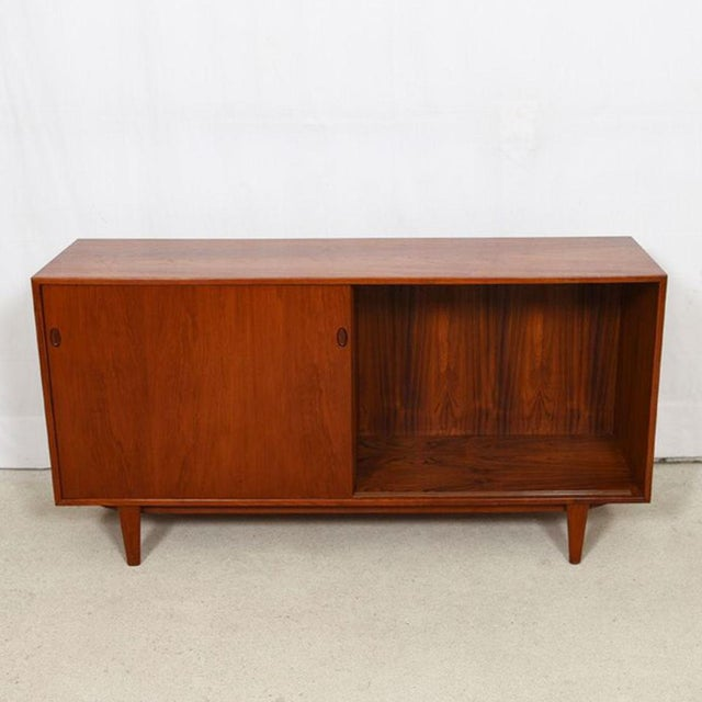 Wood 1950s Kofod Larsen Danish Teak Cabinet / Room Divider For Sale - Image 7 of 9