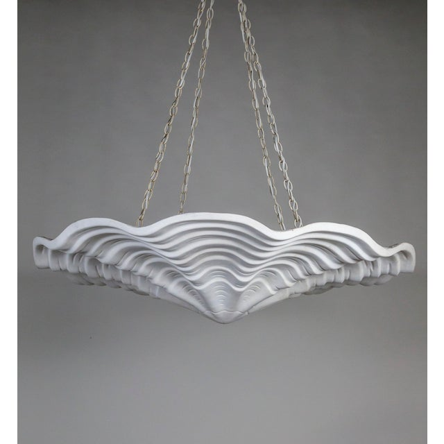 Mammoth White Plaster Shell Pendant For Sale - Image 9 of 9