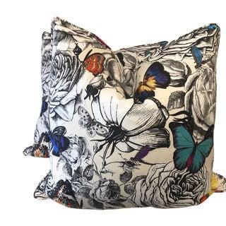"""Osborne & Little """"Butterfly Garden"""" 22"""" Pillows-A Pair For Sale"""