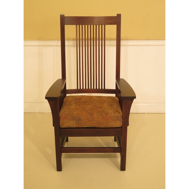 df5a5b5a8e Item: Set of 6 STICKLEY Mission Oak High Back Dining Room Chairs Age: C
