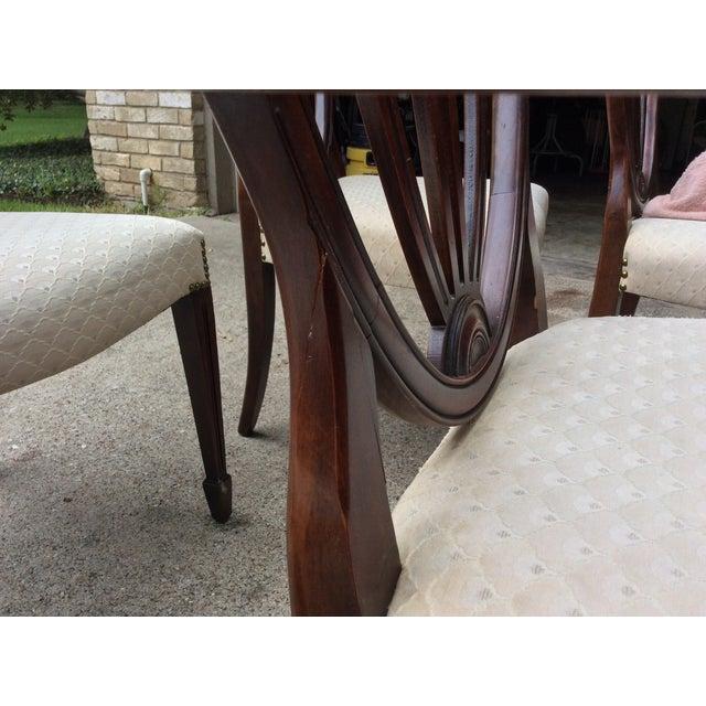 Hepplewhite Mahogany Shield Back Dining Chairs-S/6 - Image 8 of 10