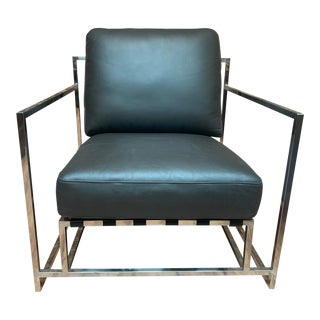 Metropolitan Home Leather Chair For Sale