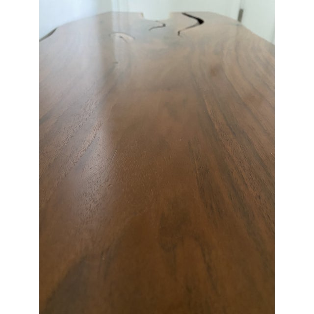 Early 21st Century Handcrafted Live Edge Teak Slab Bench or Coffee Table For Sale - Image 5 of 7