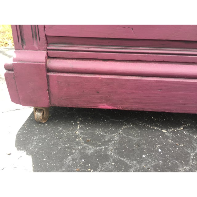 1900s Early American Antique Painted Highboy Chest of Drawers For Sale In Tampa - Image 6 of 13