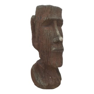 Vintage Male Head Stone Sculpture