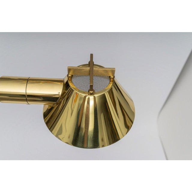 Polished Brass Adjustable Floor Lamp by Casella Lighting 1980s For Sale - Image 9 of 11