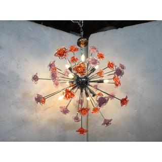 Contemporary Murano Glass Flowers Sputnik Chandelier Preview