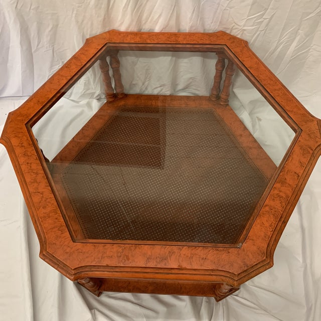 Orange Chinese Chippendale Coffee Table For Sale - Image 9 of 13