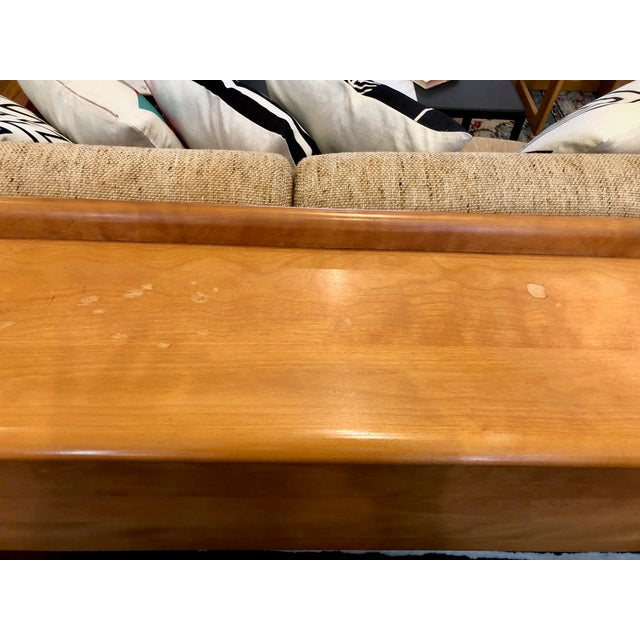 Heywood-Wakefield Mid Century Heywood Wakefield Full Size Headboard W/Attached Nightstands For Sale - Image 4 of 12