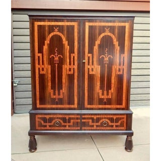 Swedish Art Deco Inlaid Rosewood Storage Preview