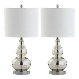 Image of Newly Made Silver Table Lamps