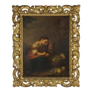 """The Little Fruit Seller"" Oil on Canvas after Bartolomé Esteban Murillo For Sale"