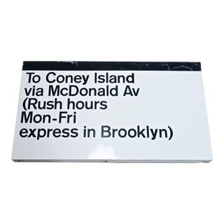 Massimo Vignelli New York Subway Sign for Unimark (C. 1968) For Sale