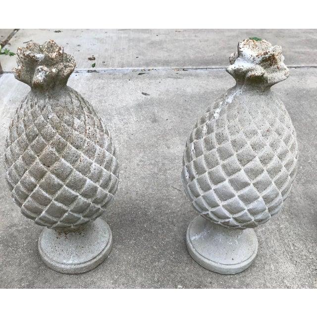 Vintage Mid Century Concrete Artichoke Finials - Set of 3 For Sale - Image 4 of 6