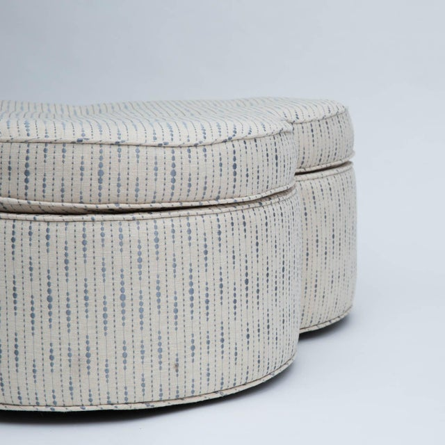 Trefoil Shaped Upholstered Ottoman For Sale In New York - Image 6 of 7