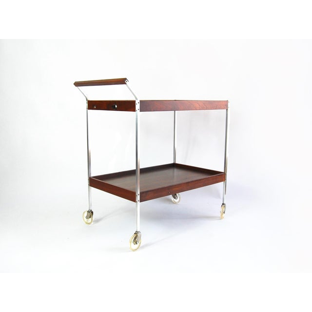 Mid-Century Modern Salton Mid-Century Hot Plate Serving Cart For Sale - Image 3 of 6