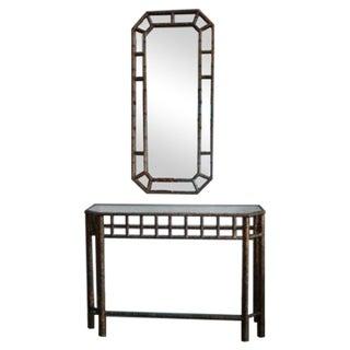 Italian Chinoiserie Mirror & Console