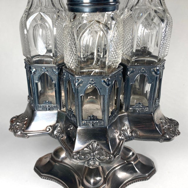 A true rarity, this Cruet Set captures a perfect snapshot of the history of American taste, style, and design on the eve...