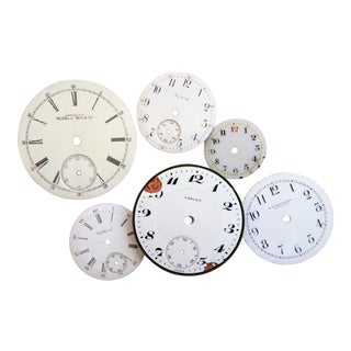 Antique Pocket Watch Faces - Set of 6