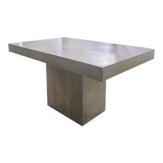 Modern CB2 Fuze Grey Dining Table For Sale