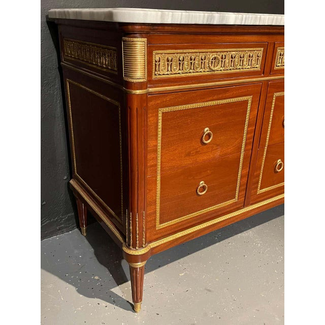 Pair of Monumental French Commodes in the Manner of Maison Jansen For Sale - Image 12 of 13