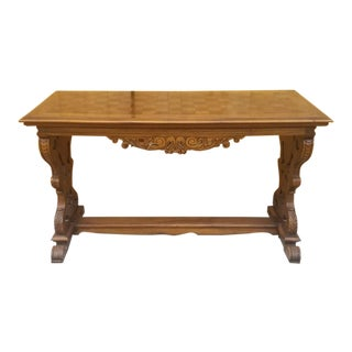 Antique Italian Renaissance Style Ornate Carved Side Table For Sale