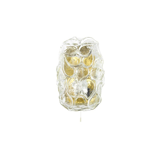 1960s Austria Murano Glass and Brass Sconces - Set of 3 For Sale - Image 4 of 8