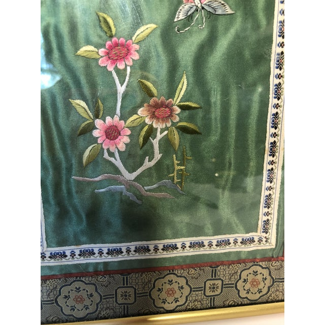 Asian Vintage Chinese Framed Silk Embroidery For Sale - Image 3 of 5