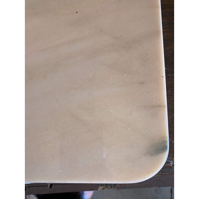 20th Century French Marble & Cast Iron Bistro Table For Sale - Image 4 of 12