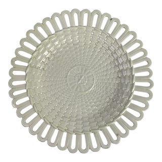 Wedgwood Creamware Basketweave Plate For Sale