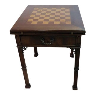 Early 20th Century Vintage Custom English Game Table For Sale