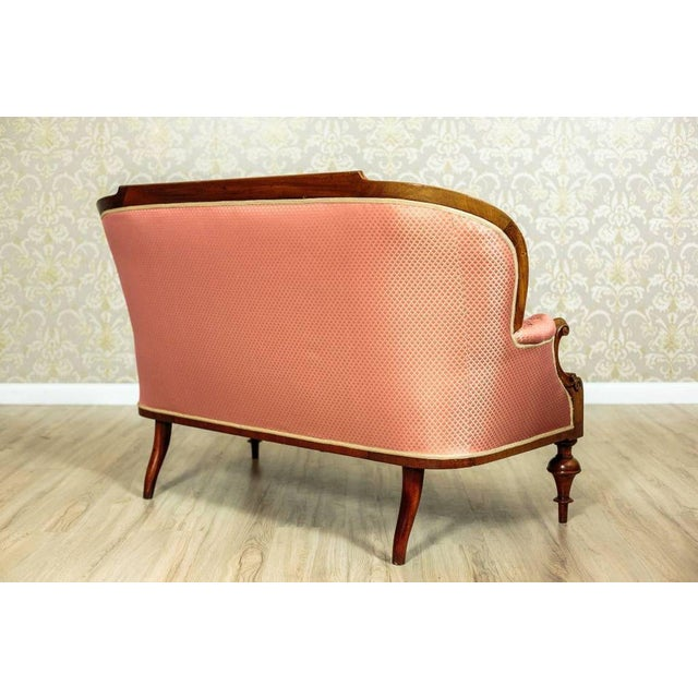 Tufted Pink Mahogany Sofa Circa 1890 For Sale - Image 6 of 9