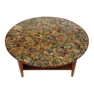 1970s Mid-Century Modern Worldly Sculptural Coffee Table For Sale