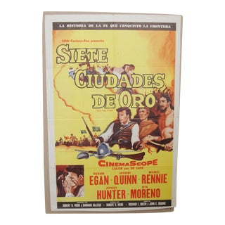 """""""Seven Cities of Gold"""" 1955 Original Movie Poster For Sale"""
