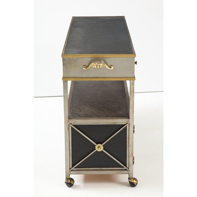 Brass and Steel Console For Sale In New York - Image 6 of 13