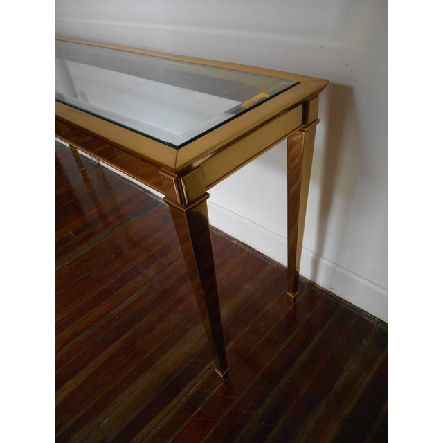 Louis XVI Brass Console Table - Image 5 of 8