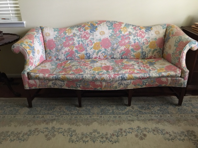 Hickory Chair Chippendale Style Camel Back Formal Sofa Chairish