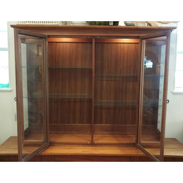 Mid-Century Kagan Style Bowed Front Hutch - Image 3 of 8