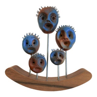 Rocking Heads Art Sculpture For Sale