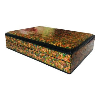 India Lacquer Wood Box For Sale