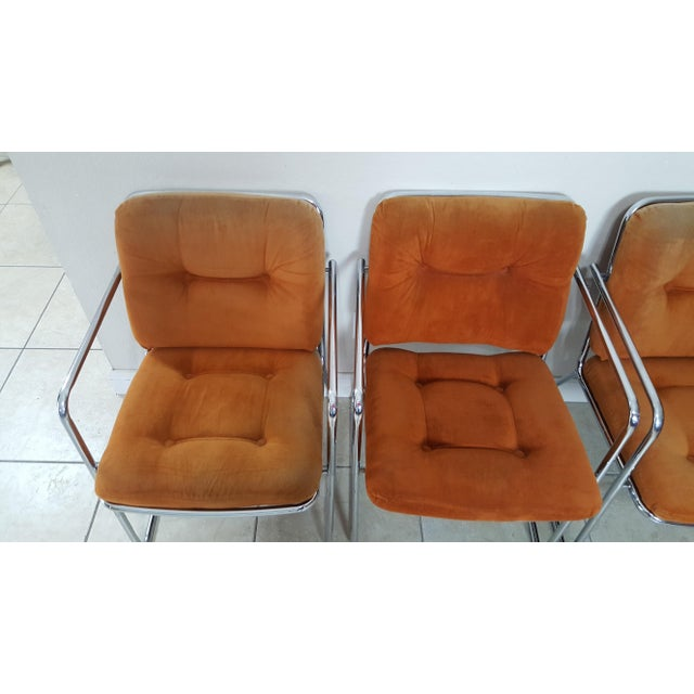Mid-Century Modern Vintage 1970s Mid Century Modern ChromeCraft Corp Chairs - Set of 3 For Sale - Image 3 of 13