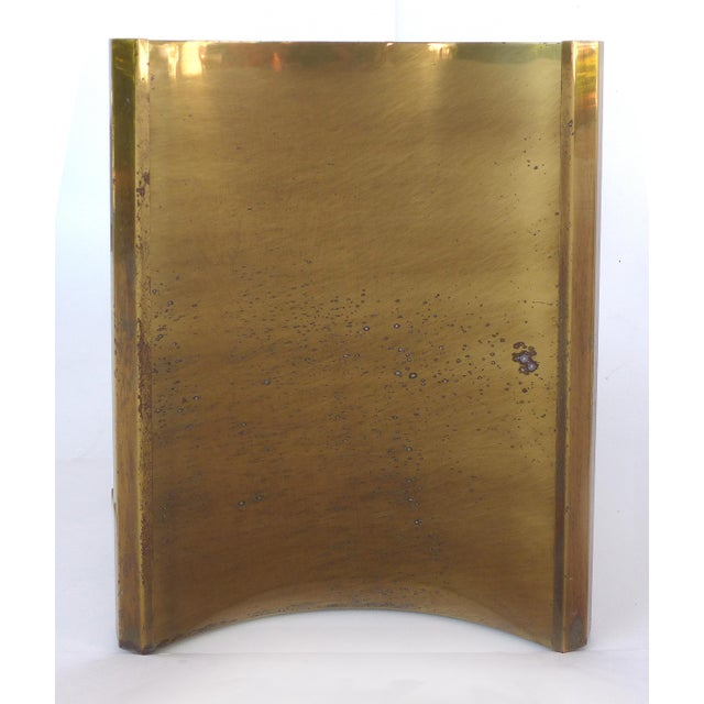 "Mastercraft Double Pedestal Brass ""Trilobi"" Dining Table With Ogee Beveled Glass For Sale - Image 10 of 13"