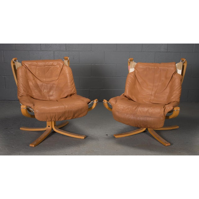 1970s Vintage Sigurd Ressell for Vatne Mobler Norwegian Low Back Falcon Sling Chairs- A Pair For Sale - Image 12 of 12