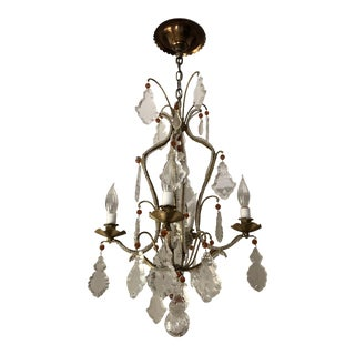 French 4 Arm Wrought-Iron Chandelier