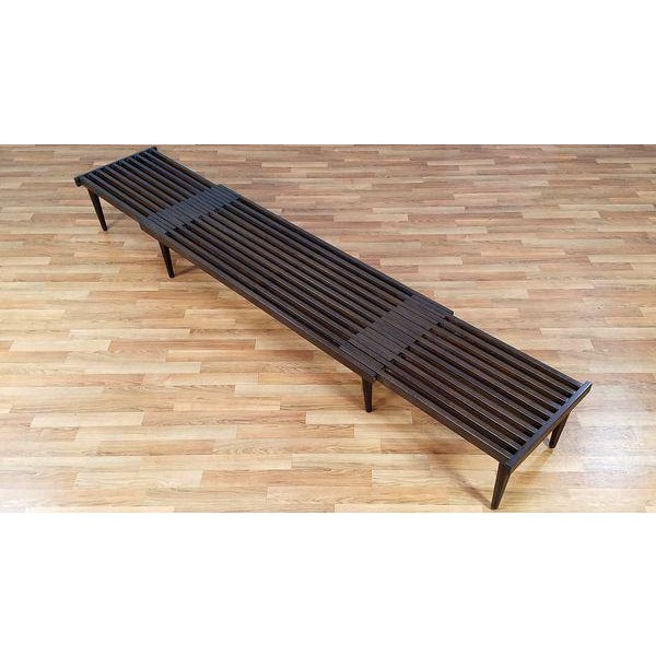 Brown Saltman Slat Bench - Image 2 of 10