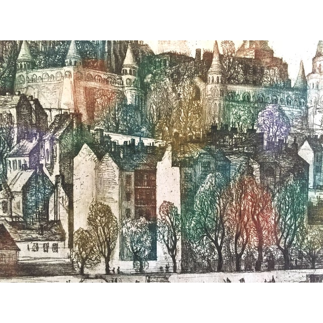 Hungary Castle Budapest, Vladimir Szabó Etching For Sale In New York - Image 6 of 6